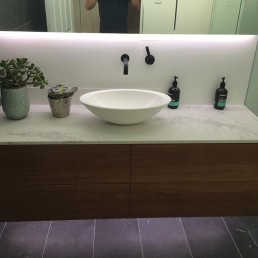 Woronora Bathroom Renovation - custom vanity